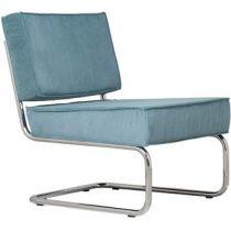Zuiver Lounge Chair Ridge Rib Fauteuil Stoelen Blauw