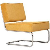 Zuiver Lounge Chair Ridge Rib Fauteuil Stoelen Geel