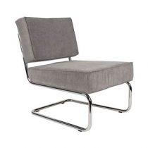 Zuiver Lounge Chair Ridge Rib Fauteuil Stoelen Grijs