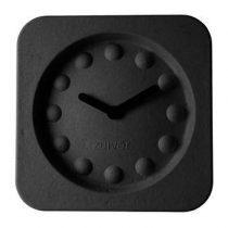 Zuiver Pulp Time Wandklok 36 x 36 cm Klokken Zwart Papier