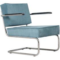 Zuiver Rib Ridge Loungestoel met armleuning Stoelen Blauw