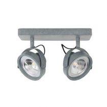 Zuiver Spotlight Dice LED Plafondspot Dubbel Verlichting Grijs Staal