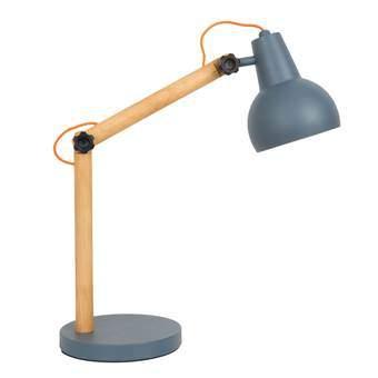 Zuiver Study Tafellamp Verlichting Grijs Hout