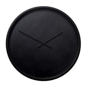 Zuiver Time Bandit Wandklok Ø 60 cm Klokken Zwart Aluminium