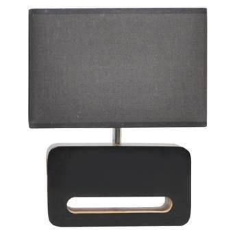 Zuiver Wood Tafellamp Verlichting Zwart Hout