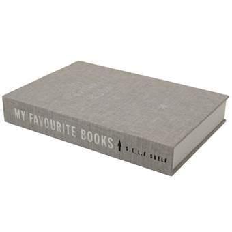Zwevende boekenplank Selfshelf Linnen Hardcover Wanddecoratie & -planken Grijs Hout