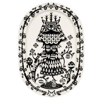 iittala Taika Ovaal Serveerbord 41 x 28 cm Servies Zwart Porselein