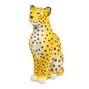 &k amsterdam Coinbank Leopard Spaarpot Woonaccessoires Geel