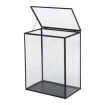 vtwonen Glazen Cabinet L Woonaccessoires Zwart Glas